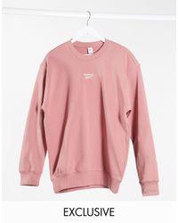 Reebok Розовый Свитшот Бойфренда С Логотипом Эксклюзивно Для Asos