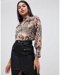 Lipsy - Blouse In Leopard Print - Lyst