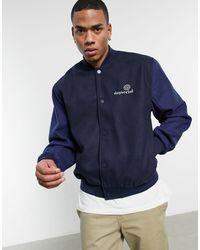 ASOS Asos Daysocial Oversized Varsity Jacket - Blue