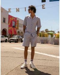 adidas Originals 'summer Club' All Over Logo Print Short Sleeve Shirt - Multicolor