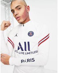 Nike Football Paris Saint-germain Long Sleeve Drill Top - White