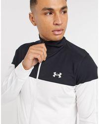 Under Armour Sportstyle Pique Track Jacket - White