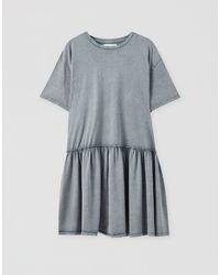 Pull&Bear Smock Dress - Gray