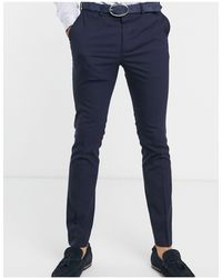 New Look Skinny Suit Trousers - Blue