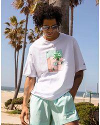adidas Originals 'summer Club' Hand Drawn Graphic T-shirt - White