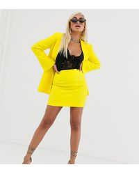 ASOS Pop Mini Suit Skirt - Yellow