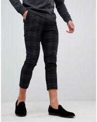Only & Sons - Cropped Tapered Smart Trousers - Lyst