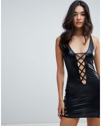 Ann Summers - Samara Wetlook Dress In Black - Lyst