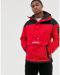 Challenger Pullover Jacket In Red