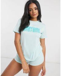 Adolescent Clothing Baby Girl - Pyjamaset Met Short - Blauw