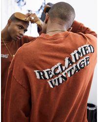 Reclaimed (vintage) Коричневый Oversized-свитшот Inspired - Многоцветный