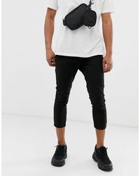 ASOS Skinny Super Cropped Chinos - Black