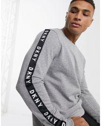 DKNY – es Sweatshirt mit Logoband - Grau