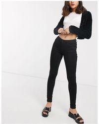 Noisy May - Jeans modellanti a vita alta neri - Lyst