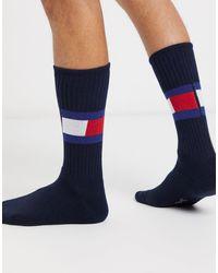 Tommy Hilfiger Темно-синие Носки С Логотипом -темно-синий