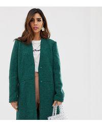 meilleure sélection fe85d ce60b Manteau en laine effet bouclé - Vert