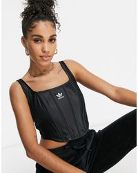 adidas Originals 'relaxed Risqué' Satin Look Corset - Black