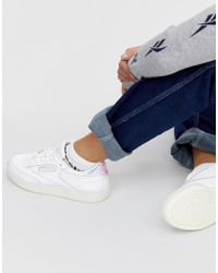5634aa67322 Reebok - Club C 85 Trainers In White With Iridescent Back - Lyst