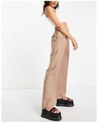 TOPSHOP Pantalon carotte plissé - Multicolore