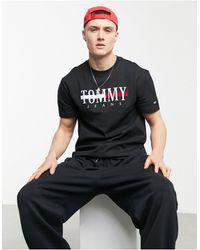 Tommy Hilfiger Timeless - T-shirt Met Groot Vlaglogo - Zwart