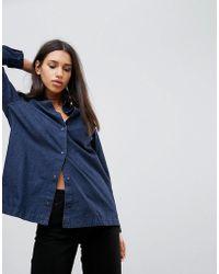 WÅVEN - Nott 3.0 Long Denim Shirt - Lyst