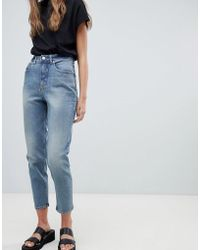 Cheap Monday Donna High Rise Mom Jeans - Blue