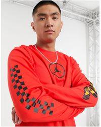 Nike Nike - Sport Dna - T-shirt Met Lange Mouwen - Rood