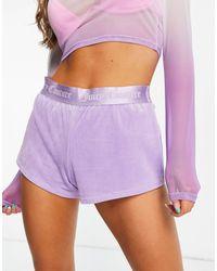 Juicy Couture Shorts lilas - Morado