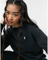 Polo Ralph Lauren Черный Свитер С Круглым Вырезом И Логотипом -черный Цвет