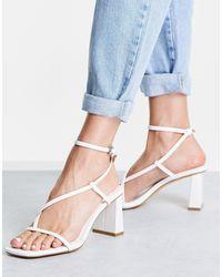 Forever New Indiana Strap Mid Block Heel Sandal - White