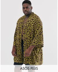 ASOS Plus Kimono - Brown