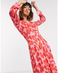 Closet Wardrobe Asymmetric Dress With Panel-multi - Pink