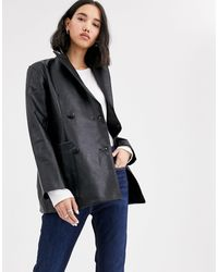 Native Youth Double Breasted Blazer - Black