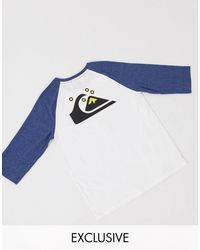 Quiksilver Raglan Long Sleeved T-shirt - White
