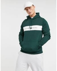 Tommy Hilfiger Chest Stripe Logo Hoodie - Green