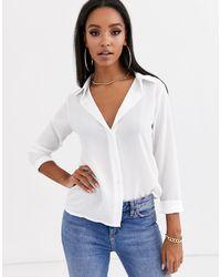 Boohoo Camicia basic bianca - Bianco