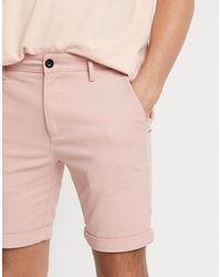 TOPMAN Chino Skinny Shorts - Multicolour