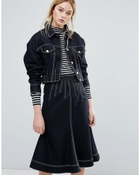 Sportmax Code | Alcamo Denim Look Jacket Co-ord | Lyst