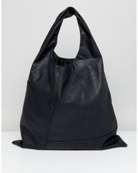 Cheap Monday   Leather Look Stitch Detail Tote   Lyst
