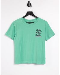 Quiksilver Colourful Land Cropped T-shirt - Green