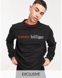 Tommy Hilfiger Черный Свитшот Для Дома С Логотипом На Груди – Эксклюзивно Для Asos-черный Цвет