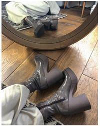ASOS – Elsie – Sock-Boots mit hohem Absatz - Grau