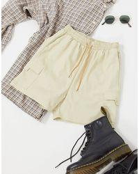 Daisy Street Relaxed Cargo Shorts - Natural