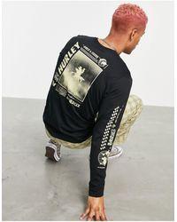 Hurley Exp Palm Trip Long Sleeve T-shirt - Black