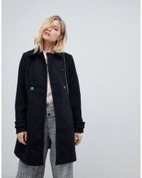 Oasis - Tailored Coat In Black - Lyst