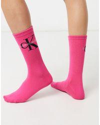 Calvin Klein Ярко-розовые Носки С Логотипом Jeans-розовый