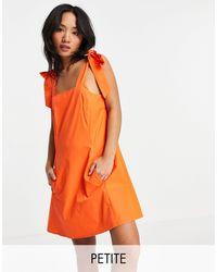 Topshop Unique - Poplin Pinafore Mini Dress - Lyst