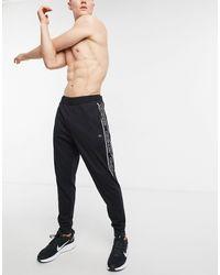 Calvin Klein Performance Logo Taping Cuffed sweatpants - Black