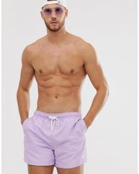 New Look - Basic Swimshort In Lilac - Lyst