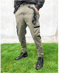 Bershka Cargo Trousers - Green